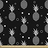 ABAKUHAUS Tropisch Gewebe als Meterware, Monochrome Ananas,