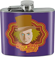 Willy Wonka and the Chocolate Factory Willy Wonka Stainless Steel 5oz Hip Drink Kidney Flask