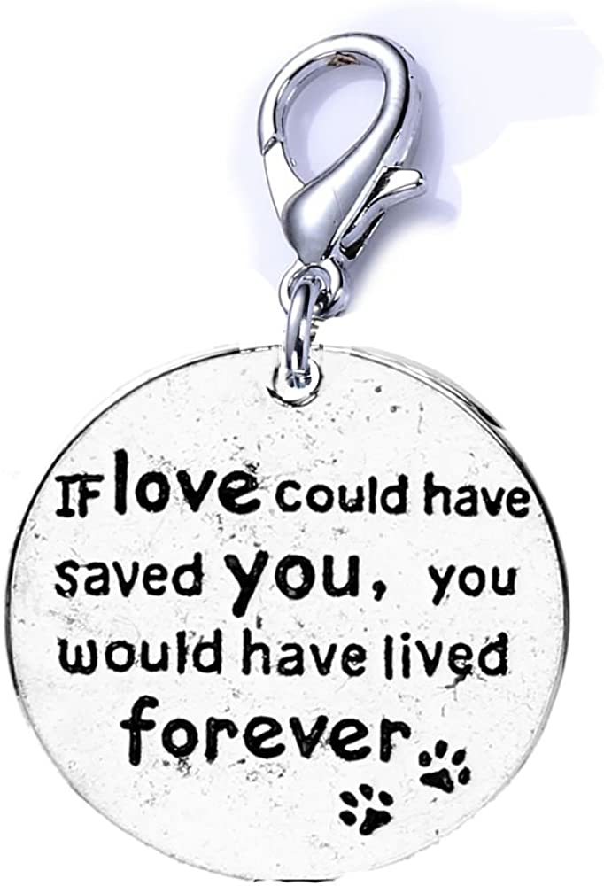 Credence Sexy Sparkles Loss of Pet Memorial Charm Love New mail order Dog H If Cat Could