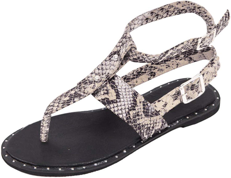 Xinantmie Women's Open Toe-Thong Sandals Flat Cross-Made Sandals Bohemian Clip Toe Flip Flops Sandals