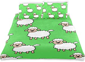 Amanda Billy Black Sheep DVD Bedding 3 Piece Set Bedding Set Full Set 66 × 90 in Bed Cover, 2 Pillowcase Pattern Soft Microfiber Bed Cover Set Children's Gift