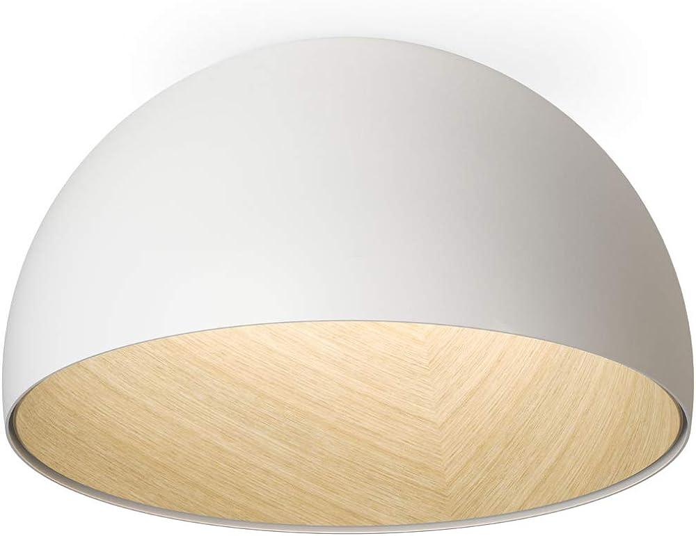 Vibia,plafoniera da soffitto,in legno di rovere con la raffinatezza dell'involucro metallico 487893/1A