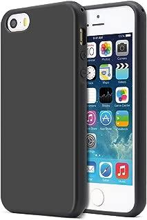 iPhone 5S 手机壳, iPhone SE 手机壳, iPhone 5手机壳, mundulea 弹性 TPU 亚光表面黑色框架双色套适用于 Apple iphone SE 5S Mint Green