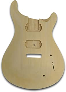 Unfinished Guitar Body For PRS Electric Guitar, Bass Wood Made Body, Curve-Shaped Top
