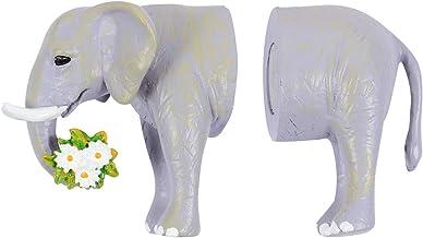 OSALADI 2 Stks Safari Dieren Magnetische Haak Kawaii Mooie Koelkast Decoratie Hanger Koelkast Magneten Grijs