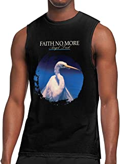 NancyA Men's Faith No More Angel Dust Sleeveless Gym Vest Tshirt Muscle Tank Tops Black