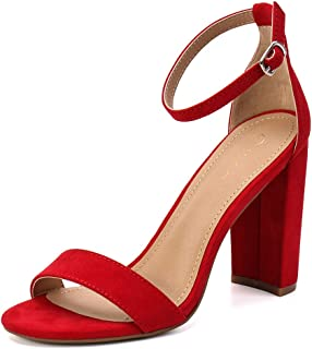 a024cedcfc38c Amazon.com: Red - Heeled Sandals / Sandals: Clothing, Shoes & Jewelry