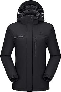 Women's Mountain Snow Waterproof Ski Jacket Detachable...