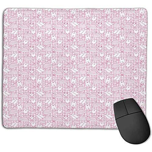 Muismat baby pasgeboren meisjes kleding met geruite harten sterren bloemen jurken en hoeden roze wit geschikt voor elke muis