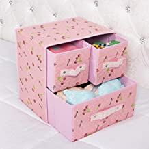 Underwear Organisers Non-Woven Foldable Closet Dividers 2 Tiers 3 Drawer Classified Storage Box for Socks Ties Scarves Han...