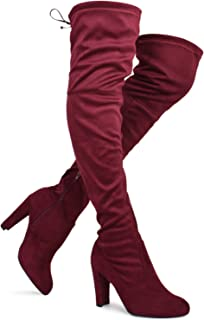 e7f9cd4ea63 Red Women's Over The Knee Boots | Amazon.com