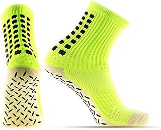 RUISIKIOU Mens Football Socks, Mens Athletic Compression Socks, Seamless Toes Cushioned Long Socks
