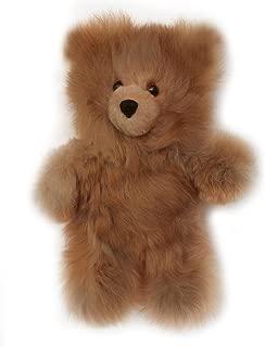 Baby Alpaca Fur Teddy Bear - Hand Made 10 Inch Chocolate Brown