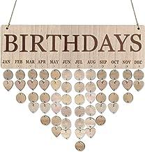 Guanici Holz Kalender Liste Kalender Zeichen Plaque Geburtstags kalender Plaque kreative Wandbehang DIY Holz Reminder Brett DIY Geschenk Dekoration f/ür Haus Party Dekoration und Home Modern Art Decor