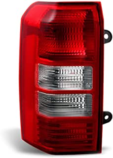 VIPMOTOZ Red Lens OE-Style Tail Light Lamp Assembly For 2008-2017 Jeep Patriot, Driver Side