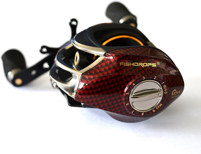 EDTara Baitcaster Reels 17+1 Ball Bearings Baitcasting Fishing Reel Low-profile BC150 Fishing Gear Left Hand Right Hand