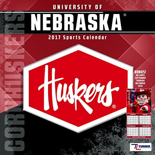 "Turner Licensing Sport 2017 Nebraska Cornhuskers Team Wall Calendar, 12""X12"" (17998011811)"