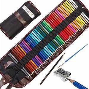Moore: Lápices de Colores artísticos Set de 48 Piezas Colores Vibrantes pre-Afilados para Adultos y niños, con…