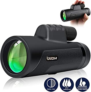 12x50 Monocular Telescope, CAICO-X High Power & HD Monocular with Smartphone Holder and Tripod for Watching Bird, Hiking, Hunting, Camping