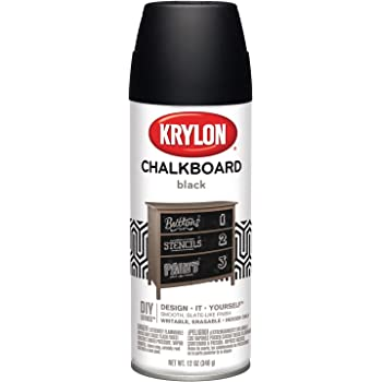 Krylon, Black I00807 Chalkboard Aerosol Spray Paint, 12-Ounce