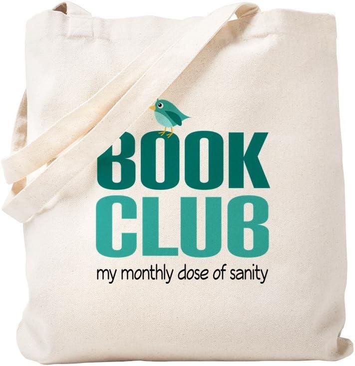 CafePress Book Club Sanity Tote Bag Natural Canvas Tote Bag, Reusable Shopping Bag