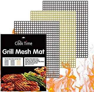 BBQ Grill Mesh Mat Set of 3 - Cook Time