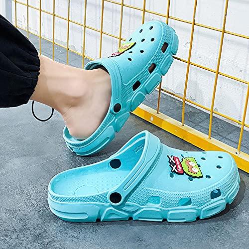 Perferct Zuecos Mujer,Ropa De Verano Zapatillas De Ocio Deportes De Hombre Y Mujer-UE 43 (265mm / 10.43')_Azul