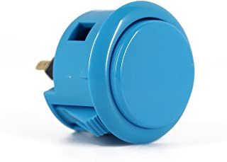 Sanwa OBSF-30 Blue (Light) 30mm OEM Arcade Push Buttons (Mad Catz SF4 Tournament Joystick Compatible)