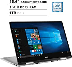 2019 Dell Inspiron 15 7586 2-in-1 15.6 Inch FHD Touchscreen Laptop(8th Gen Intel Quad Core i5-8265U up to 3.9 GHz, 16GB RAM, 1TB SSD, Intel UHD Graphics 620, Backlit Keyboard, Windows 10) (Renewed)