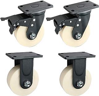LKLXJ Heavy Duty Caster, Bureaustoel wielen, Met rem Caster wielen, Geschikt voor karren, Bloem klinknagel verbinding, Sto...