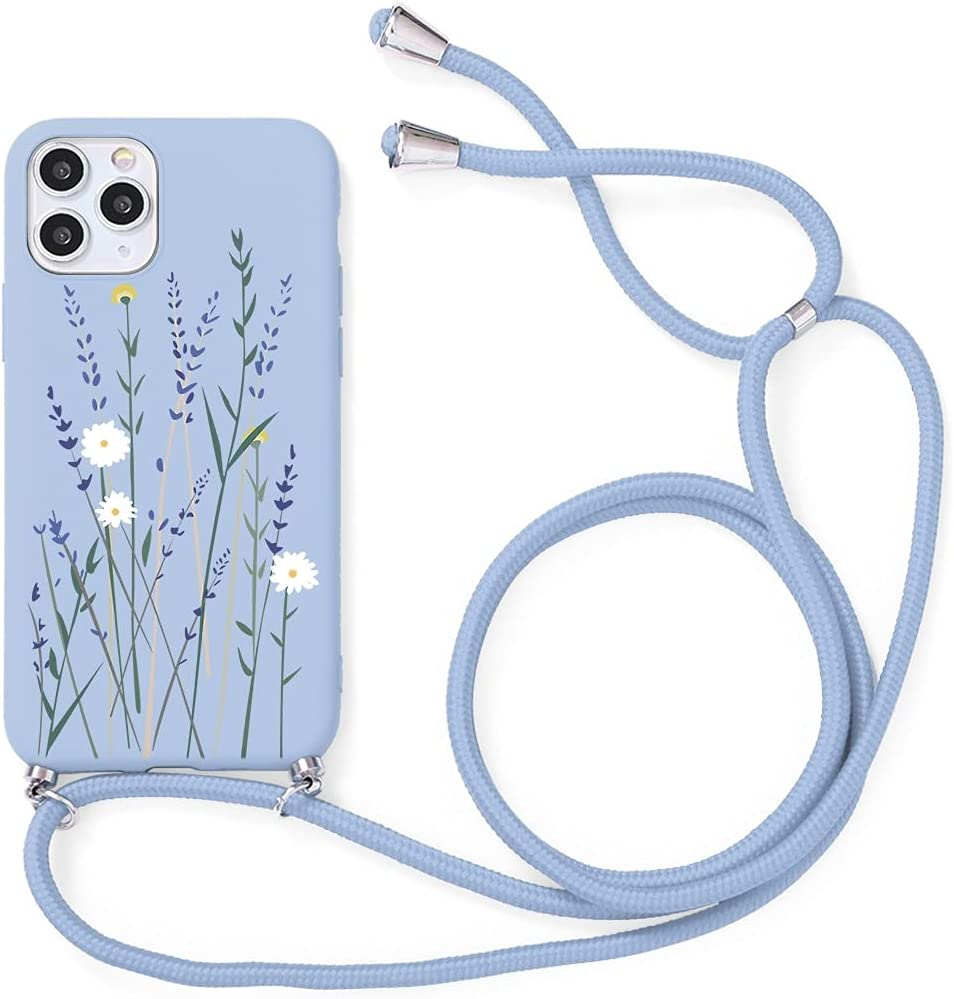 Yoedge Crossbody Case for Apple iPhone 7 Plus / 8 Plus, Neck Cord Phone Case with Adjustable Lanyard Strap, Soft TPU Silicone with Cute Pattern Cover Compatible with iPhone 8 Plus [5.5