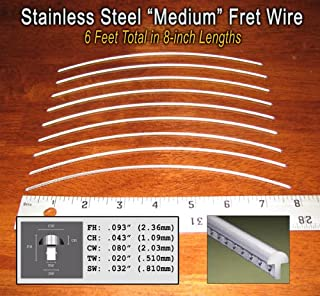 Guitar Fret Wire - Jescar Stainless Steel Medium Gauge - Six Feet