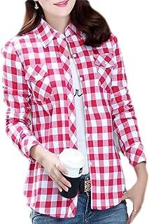 قمصان أبيكوك حريمي بأزرار سفلية نحيفة وجيوب طويلة الأكمام منقوشة مطبوعة