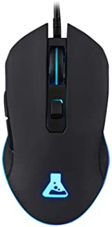 THE G-LAB Kult Helium - RATÓN GAMING USB - 800 a 3200 DPI Sensor óptico, Retroiluminación 7 Colores LED, 6 botones - Ratón de juego cómodo y ligero - Compatible con PC / Mac / Xbox One / PS4 - (Negro)