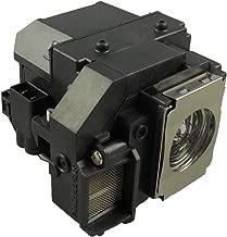 Supermait EP54 Lámpara de Repuesto para proyector con Carcasa, Compatible con Elplp54, Adecuada para EX31 / EX71 / EX51 / EB-S72 / EB-X72 / EB-S7 / EB-X7 / EB-W7 / EB-S82 / EB-S8
