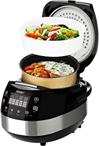 Rice Cooker Asian Style Small Rice Maker Steamer Pot Electric Steamer Digital Electric Rice Pot Multi Cooker & Food Steamer Warmer 5.3 Qt 8 Cups 5 Core RC 0501 Ratings Best Deal