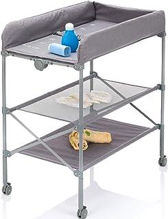 Table à langer mobile / commode à langer / matelas à langer (pliable et réglable en hauteur).