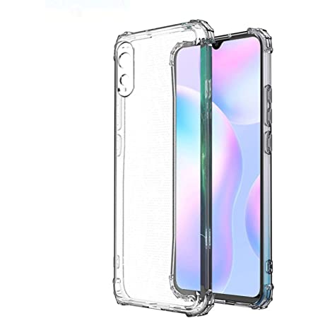 Amazon Brand - Solimo Mobile Cover (Soft & Flexible Back case) for Redmi 9A (Transparent)