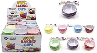 Diamond Visions 11-1488 100 piece Baking Cup Set MultiPack in Assorted Colors (400 Baking Cups)