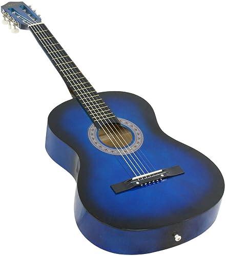 discount SHZOND Blue Acoustic wholesale Guitar outlet online sale Best Design W/Guitar Case online sale