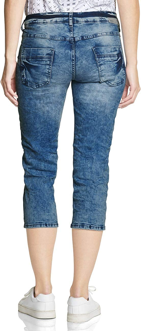 Cecil Jean Droit Femme Bleu (Authentic Used Wash 10239)