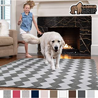 GORILLA GRIP Original Faux-Chinchilla Area Rug, 2x3 Feet, Super Soft and Cozy High Pile Washable, Modern Rugs, Luxury Shag Carpets for Home, Nursery, Bed and Living Room, Chevron: Light Gray and White