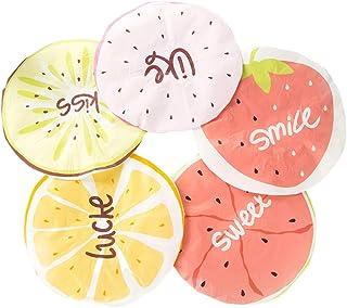 Lurrose — Touca de banho impermeável com 5 peças para banho de frutas com meleona de limão e mais padrões para adultos