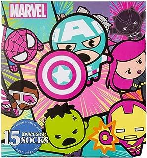 Women's Marvel Avengers 15 Days of Socks Advent Calendar