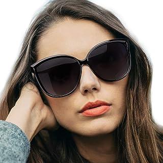 Gafas de sol polarizadas de ojo de gato para mujeres, gafas de moda vintage para la conducción de pesca - 100% de protección UV400