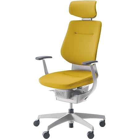 コクヨ イング イス オリーブイエロー クッションタイプ デスクチェア 事務椅子 座面が360°動く椅子 CR-GW3205E1G41S-WN 【ラクラク納品サービス】