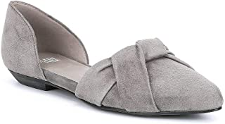 Eileen Fisher Graphite Full Suede D'Orsay Slip-On Flats Size 10