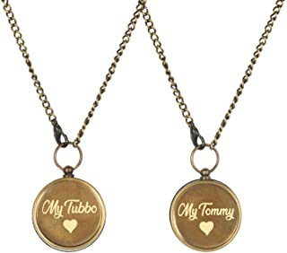 My Tubbo My Tommy Compass Necklaces Pair of 2 pcs - Working Pendant Compasses - Tubbo Tommy Fanart Compasses Locket Mine C...