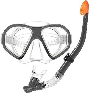 com-four® Conjunto de Snorkel de 2 Piezas - Gafas de Buceo y Snorkel para Buceo - máscara de Buceo para niños y Adultos (2 Partes - Snorkel + máscara de Buceo)
