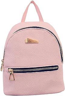 Colorido Fashion Faux Leather Mini Backpack Girls Travel Handbag School Rucksack Bag size Mini (Pink)